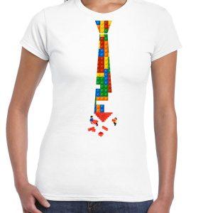 Camiseta Blanca con corbata - Mujer